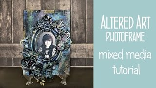 Mixed Media Canvas With Frame | Altered Art Scrapbooking