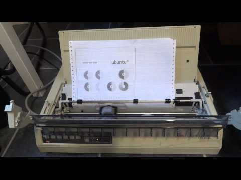 Dot matrix printer in action