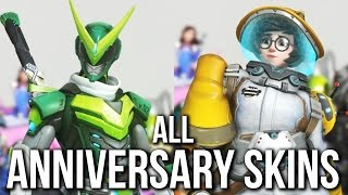 ALL NEW OVERWATCH ANNIVERSARY SKINS