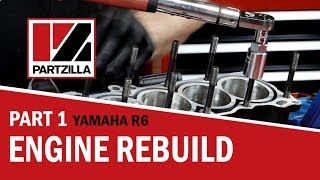 Yamaha R6 Engine Rebuild Part 1: Bottom End to Piston Install | Partzilla.com