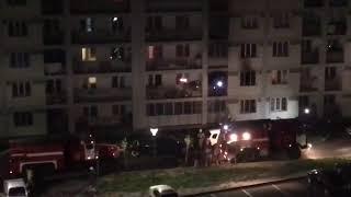 Пожар в Атлетической деревне. Алматы 27.10.2017