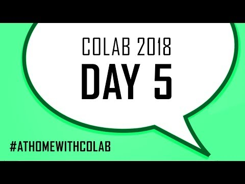 COLAB 2018 - DAY 5