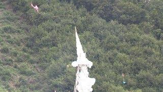 手作りロケット、秩父吉田の「龍勢」に歓声