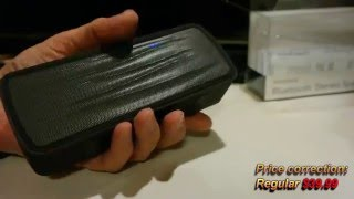 Unboxing and Review: Low Cost Insignia Portable Bluetooth Stereo Speaker in Black