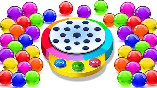 Learn Colors With Dancing Balls On Finger Family Song by KidsCamp