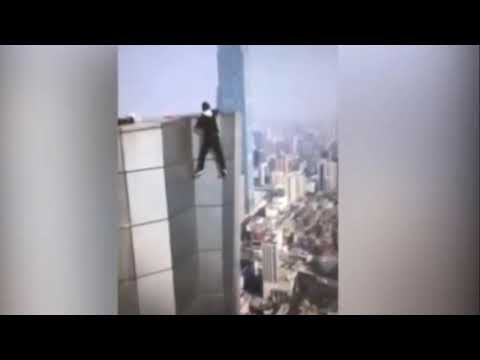 Chinese rooftopper Wu Yongning films his own death plunge from China skyscraper
