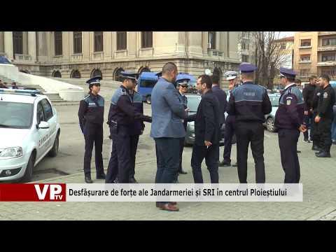 Desfășurare de forțe ale Jandarmeriei și SRI în centrul Ploieștiului