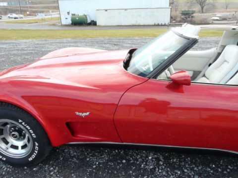 1979 Red Corvette T Top Hot Rod Video