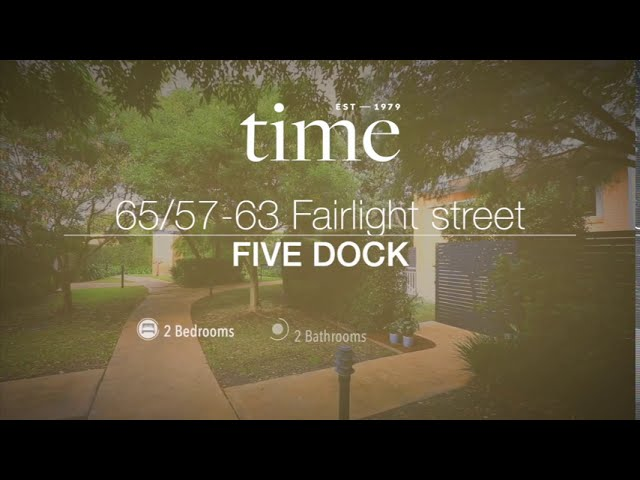 65/57-63 Fairlight Street, Five Dock NSW