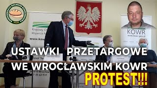 Protest Wrocław KOWR w sprawie odwołania przetargu