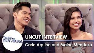 Carlo Aquino & Maine Mendoza  | TWBA Uncut Interview