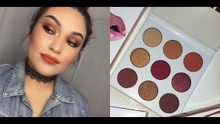 KYLIE JENNER  THE BURGUNDY PALETTE  REVIEW & DEMO