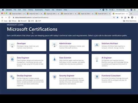 Microsoft Azure Certification Paths - YouTube