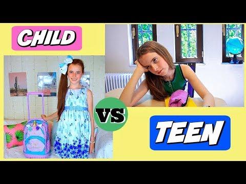 Dítě VS puberťák - první den školy