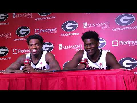 Tyree Crump and Anthony Edwards after win over Valdosta State
