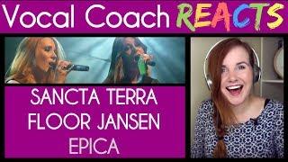 Vocal Coach reacts to Epica - Sancta Terra (feat Floor Jansen) Live Retrospect show