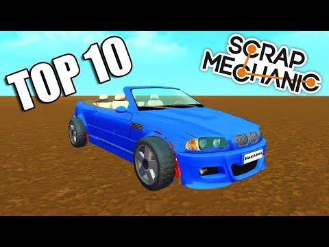 TOP 10 Módovaných Super aut v Scrap mechanic