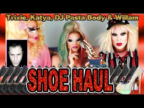 PRE-BOXING DAY LOUBOUTIN UNBOXING w Trixie, Katya, DJ Pasta Body & WILLAM