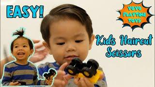 Toddler Haircut with Scissors | Easy Kids Haircut Tutorial |  DIY Toddler BOY Haircut