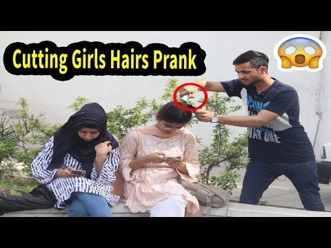 Cutting Girls Hair Prank in Pakistan | By Mirchi Prank Tv