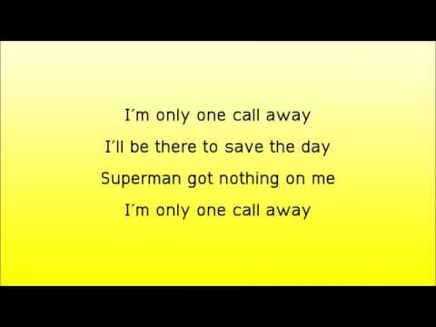 I Am Only One Call Away Charlie Pooth Lyrics Mp3