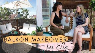 BALKON MAKEOVER BEI  @Ella TheBee   !   DIY Sichtschutz & insektenfreundiche Pflanzen   Jelena Weber
