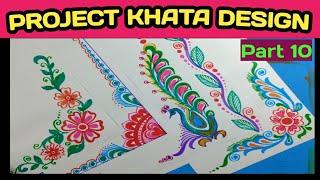 Border And Corner Design For Students Project Khata.// Practical Khata Design.//Part..10. Tarun Art.