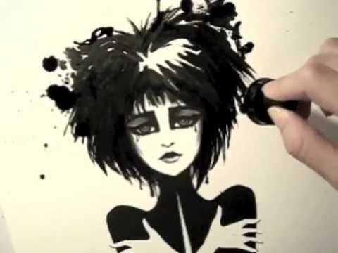Siouxsie Sioux Ink Illustration T-Shirt Design by Leilani Joy