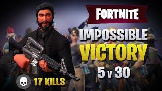Insane 5v30 Clutch Victory Royale! (Fortnite Battle Royale)