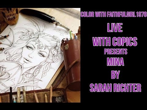 LIVE COLOR & CHAT #SPOOKTOBER COLORATHON | MINA SARAH RICHTER