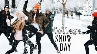 What happens during University of Oregon's ULTIMATE snow day...