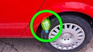 Wenn Du Eine Plastikflasche Auf Deinem Reifen Siehst, Bist Du In Gefahr!