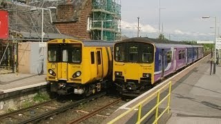 preview picture of video 'Half an Hour at (33) - Ellesmere Port Station 15.5.2014 Class 150 507 Merseyrail'