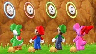 Mario Party 9 Step It Up - Yoshi vs Mario vs Luigi vs Birdo Master Difficulty  Cartoons Mee