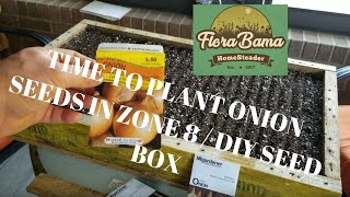 Time to plant onion seeds here in zone 8. DIY seed flat.