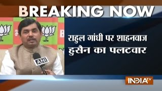 Shahnawaz Rejects Rahul Gandhis Remark On PM Modi Says People Are Backing Demonetisation