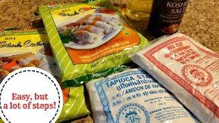 How To Make Fawm Kauv (Rice Steam Rolls) Recipe