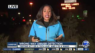 CDOT testing new wrong way driver detection