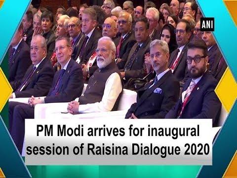 PM Modi arrives for inaugural session of Raisina Dialogue 2020