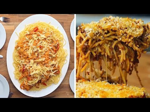 How To Make Spaghetti 12 Ways  | Creamy Pasta Recipes | Weeknight Dinners | Twisted