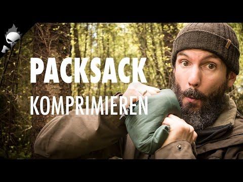 RUCKSACK RICHTIG PACKEN ⚠️ Packsack packen, verschließen und komprimieren für Wandern und Trekking