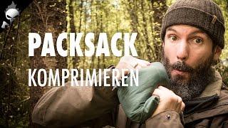 Rucksack richtig packen: Packsack packen, verschließen und komprimieren für Wandern und Trekking