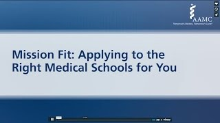 Applying to the Right Medical Schools for You