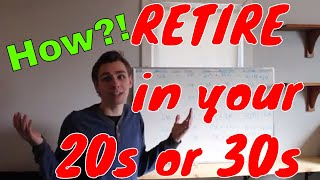 How Anyone can Retire in Their 20s or 30s..Real Example Math