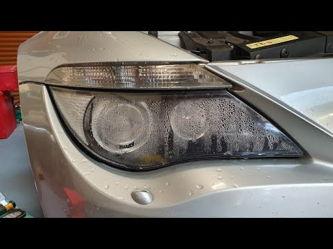 BMW E63/E64 Headlight Water Problem Fix | Headlight Removal