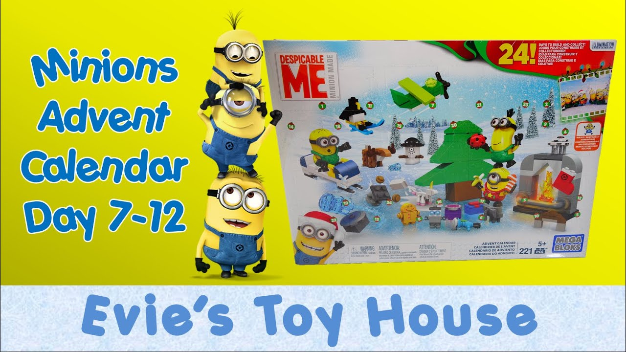 Minions Movie Despicable Me - 2015 ADVENT CALENDAR by Mega Bloks Review 2 | Evies Toy House