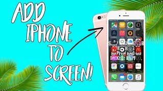 HOW TO ADD AN IPHONE AND BACKGROUND TO YOUR SCREEN RECORDINGS