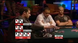 The Biggest Pot In The History Of Tv Poker! 1,108,500 MILLION DOLLAR POT .