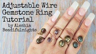 Adjustable Wire Gemstone Ring Tutorial