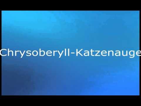 Chrysoberyll Katzenauge